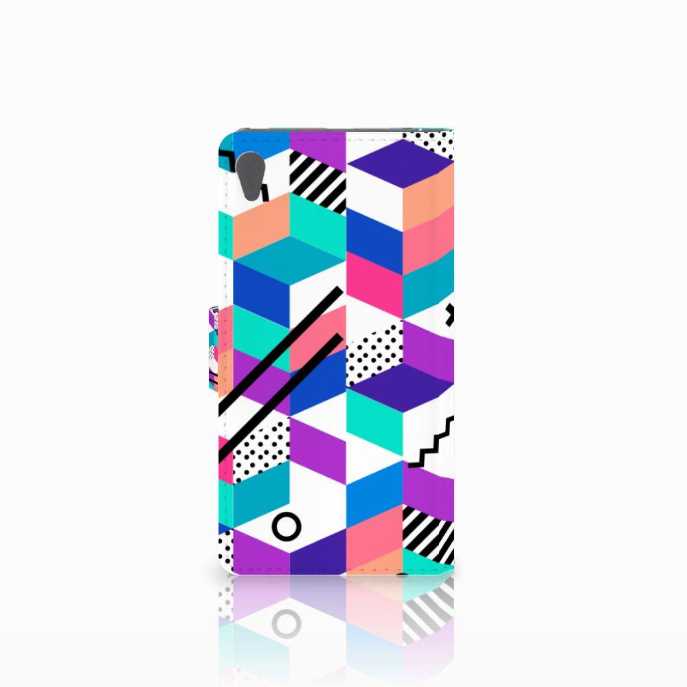 Sony Xperia E5 Bookcase Blokken Kleurrijk