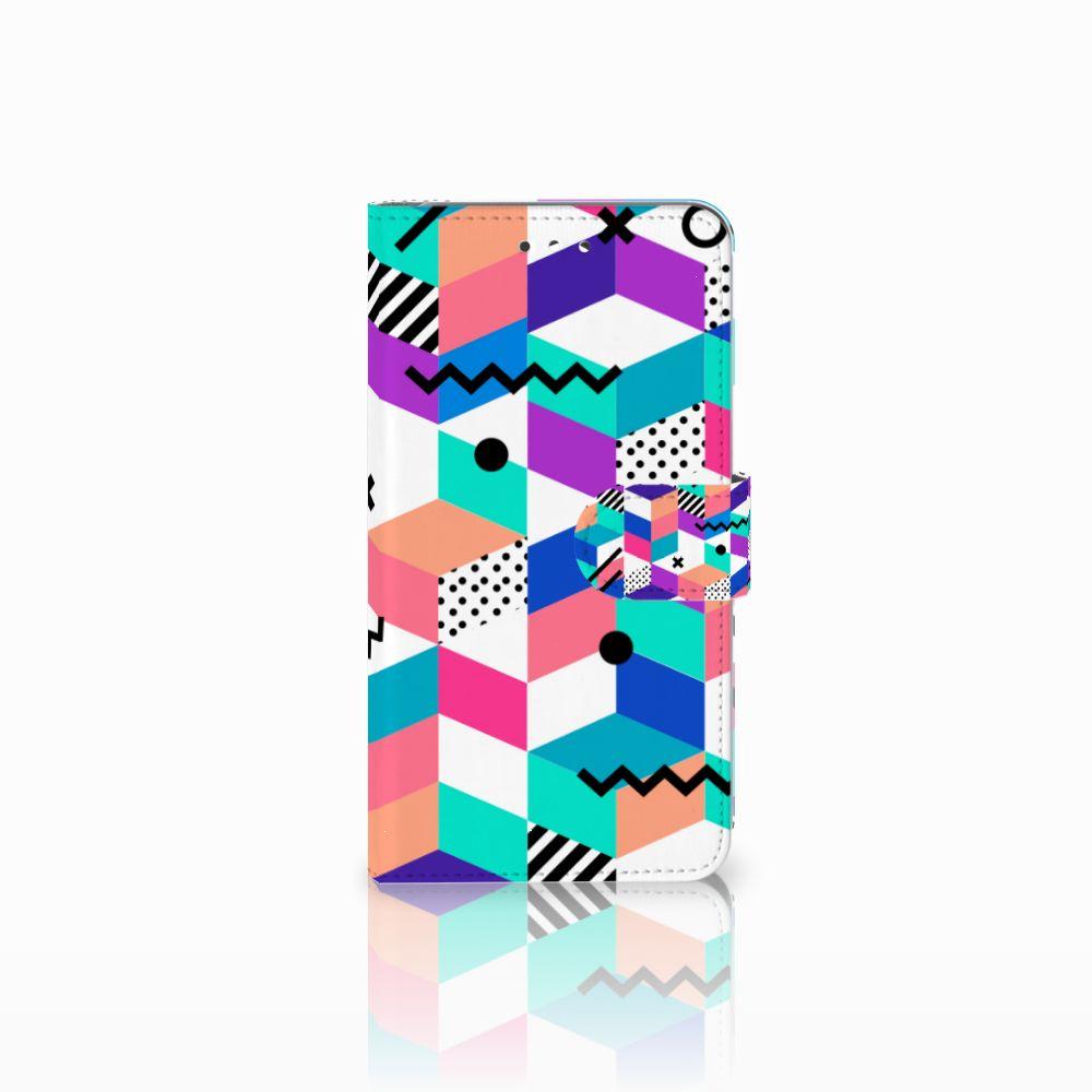 Huawei Y7 2017 | Y7 Prime 2017 Boekhoesje Design Blocks Colorful