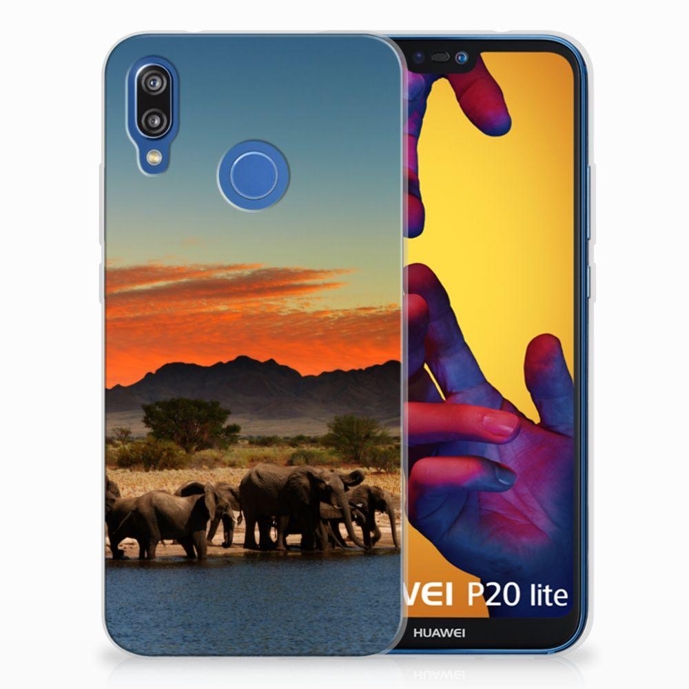 Huawei P20 Lite TPU Hoesje Olifanten