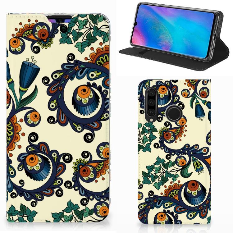 Telefoon Hoesje Huawei P30 Lite New Edition Barok Flower