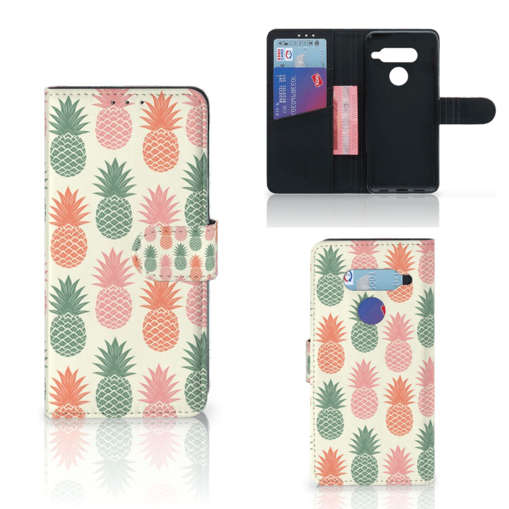LG V40 Thinq Book Cover Ananas