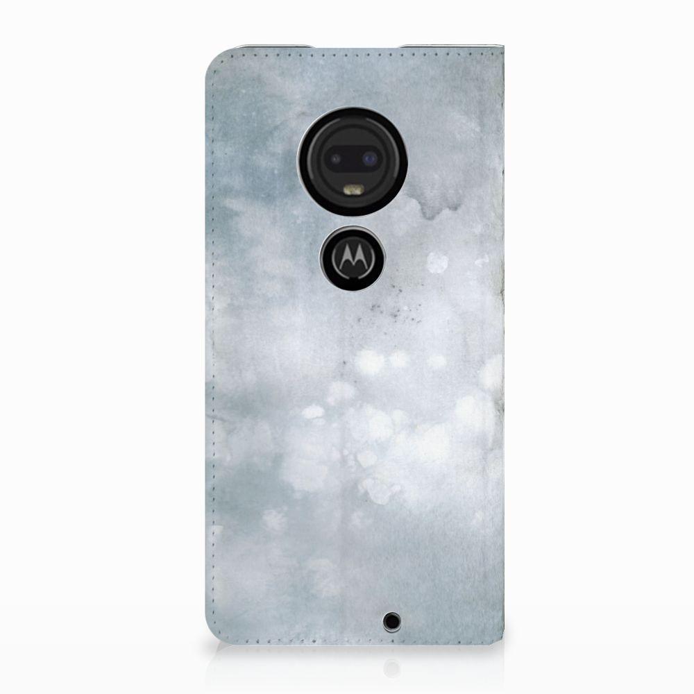 Motorola Moto G7 | G7 Plus Uniek Standcase Hoesje Painting Grey