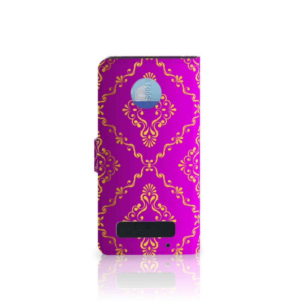 Wallet Case Motorola Moto Z Play Barok Roze
