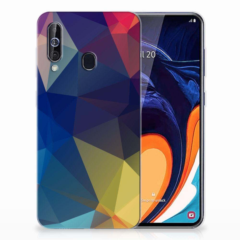 Samsung Galaxy A60 TPU Hoesje Polygon Dark