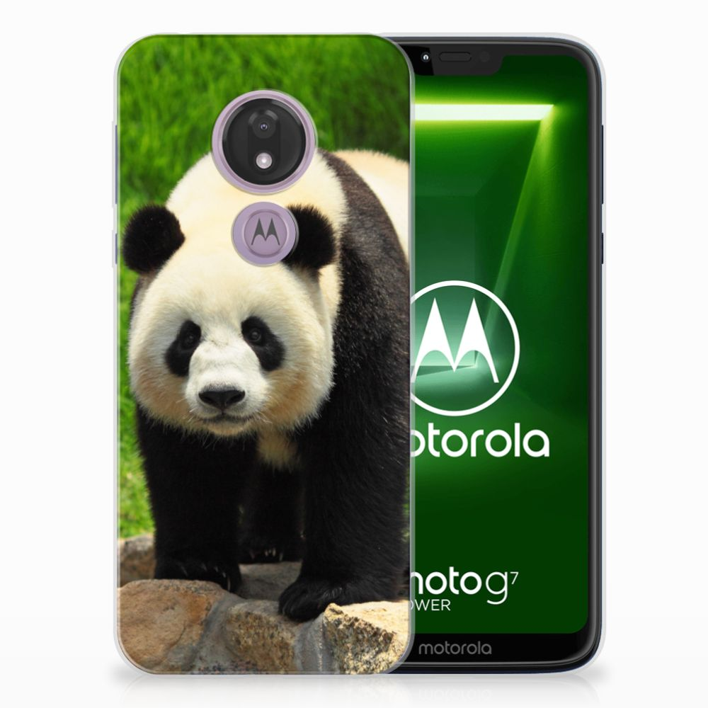 Motorola Moto G7 Power TPU Hoesje Panda