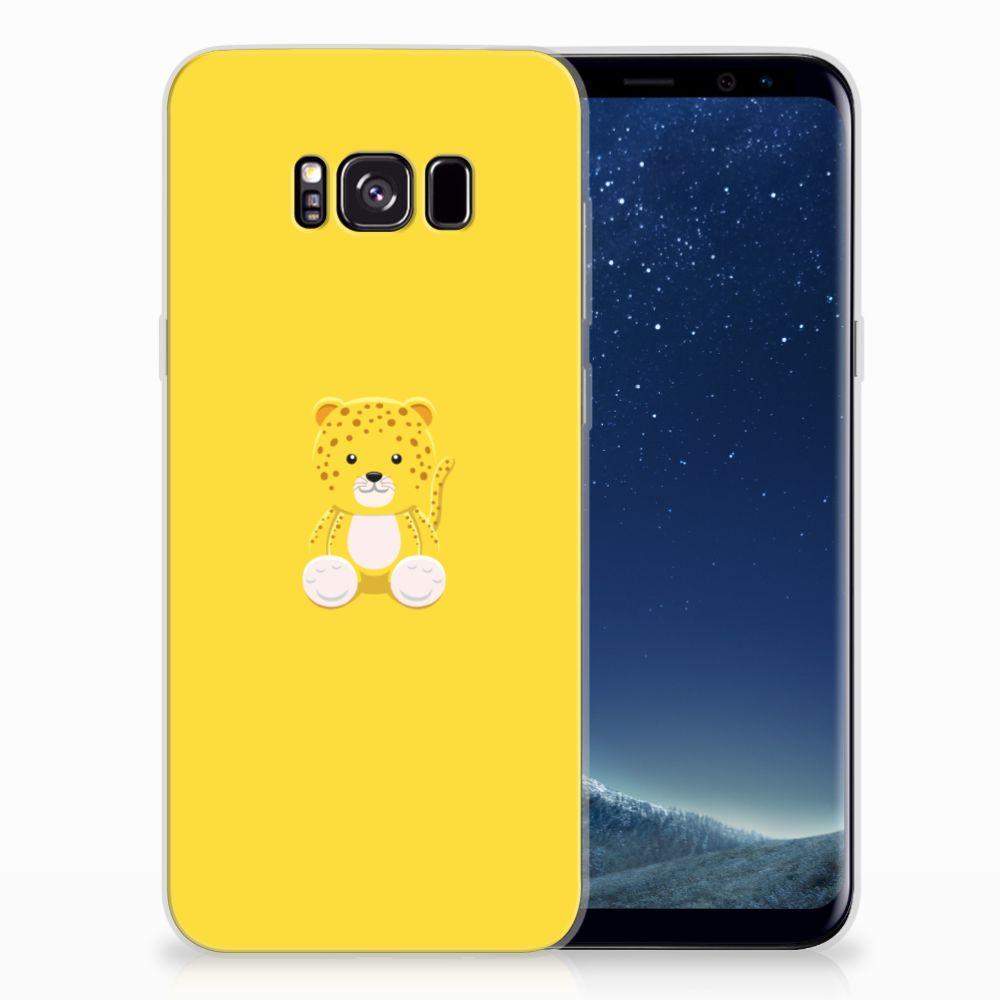 Samsung Galaxy S8 Plus Telefoonhoesje met Naam Baby Leopard