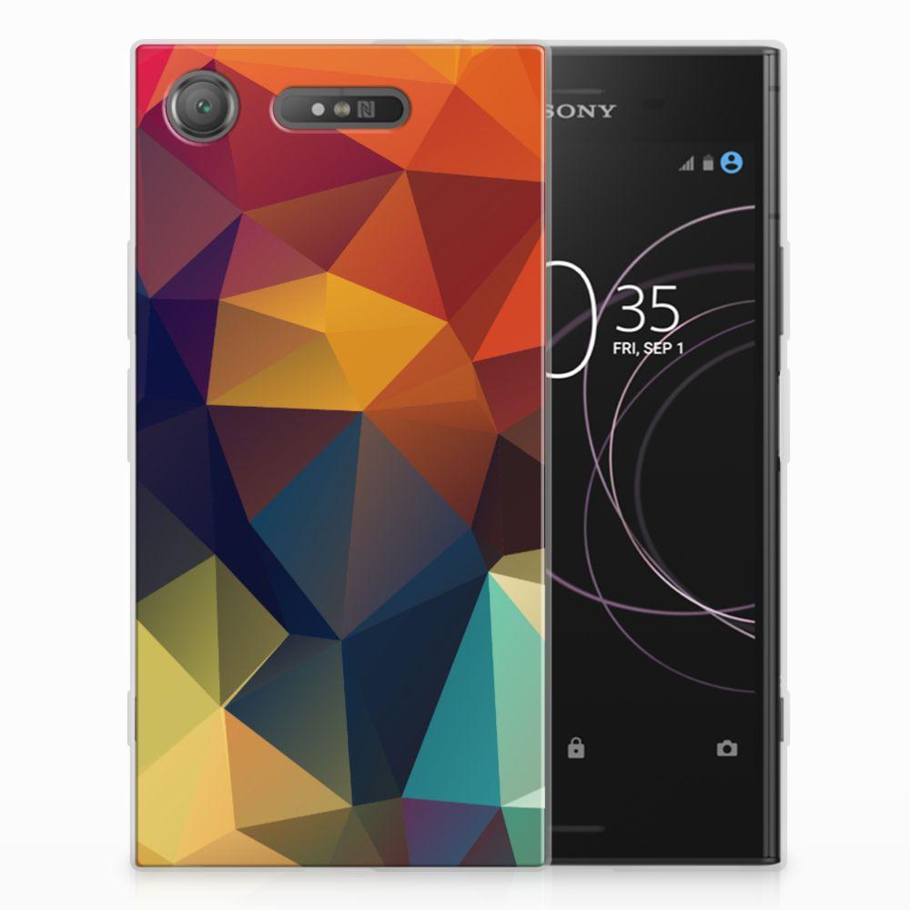 Sony Xperia XZ1 TPU Hoesje Polygon Color