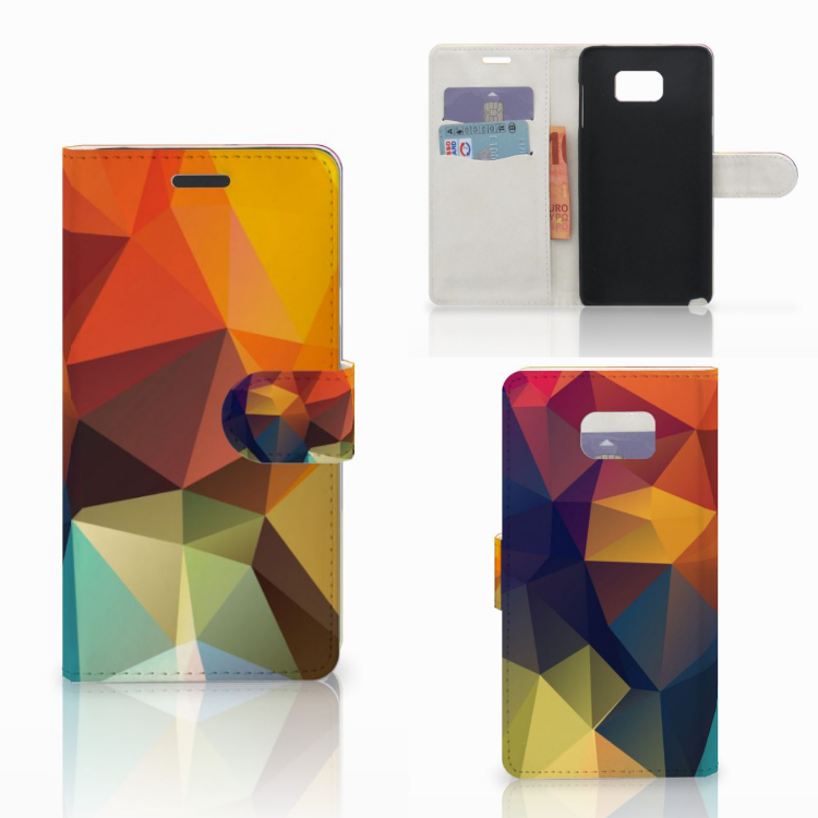 Samsung Galaxy Note 5 Bookcase Polygon Color