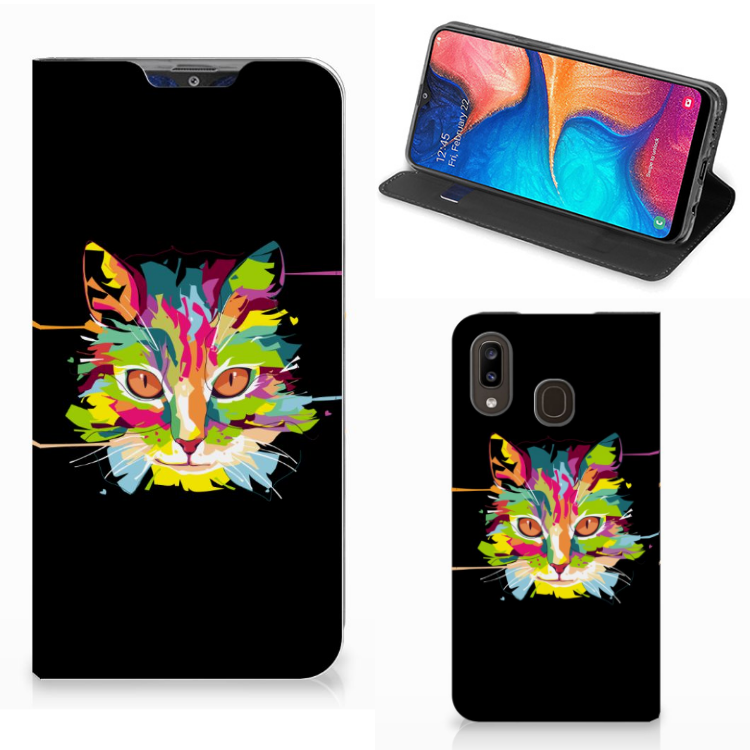 Samsung Galaxy A30 Magnet Case Cat Color