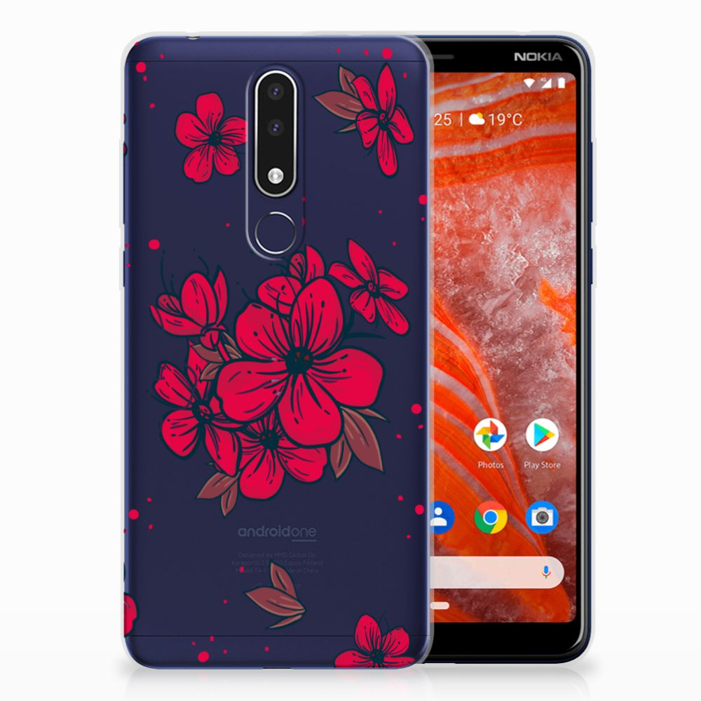 Nokia 3.1 Plus TPU Case Blossom Red