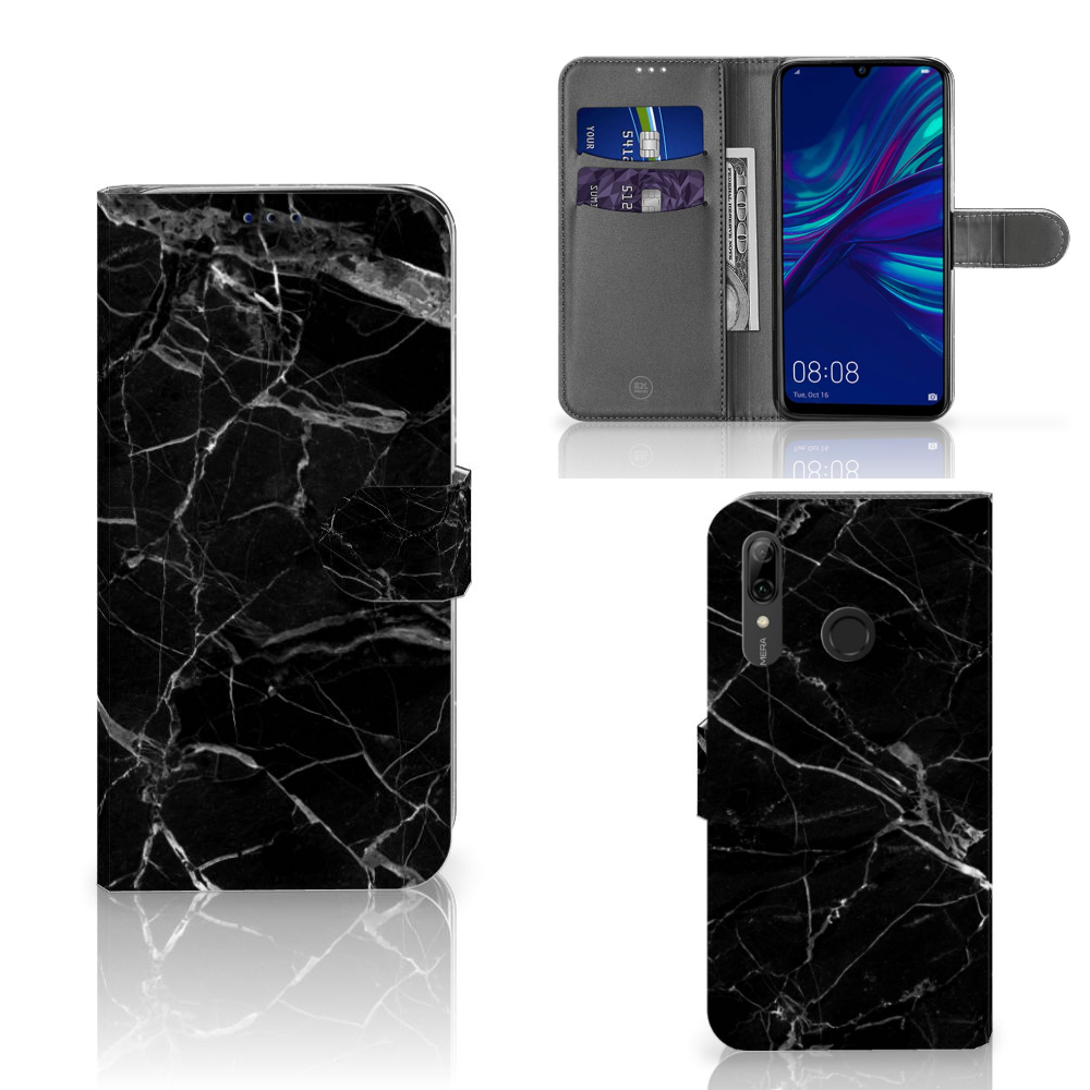 Huawei P Smart Plus (2019) Bookcase Marmer Zwart