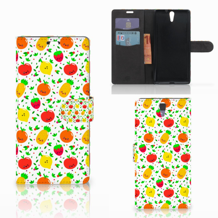 Sony Xperia C5 Ultra Book Cover Fruits