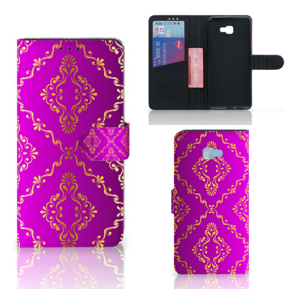 Wallet Case Samsung Galaxy J4 Plus (2018) Barok Roze