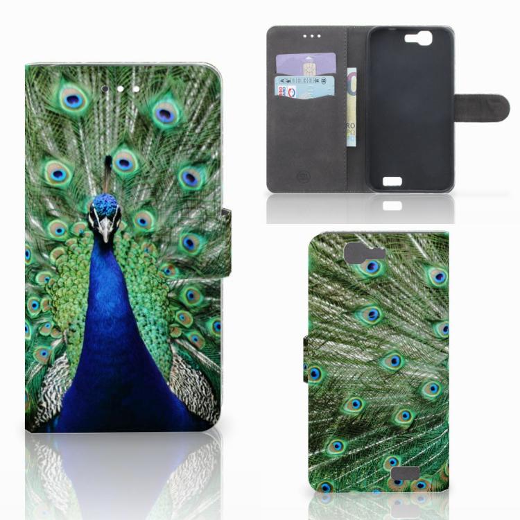 Huawei Ascend G7 Telefoonhoesje met Pasjes Pauw
