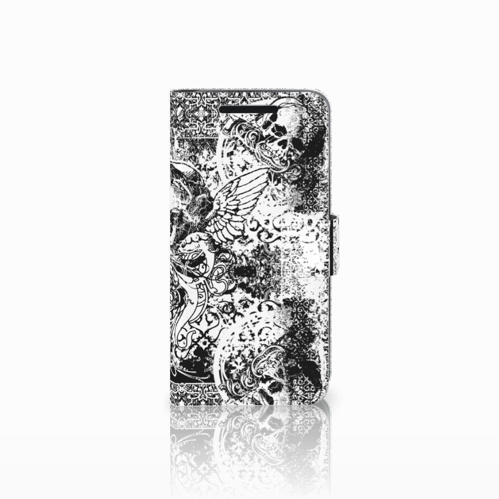Telefoonhoesje met Naam HTC One M9 Skulls Angel
