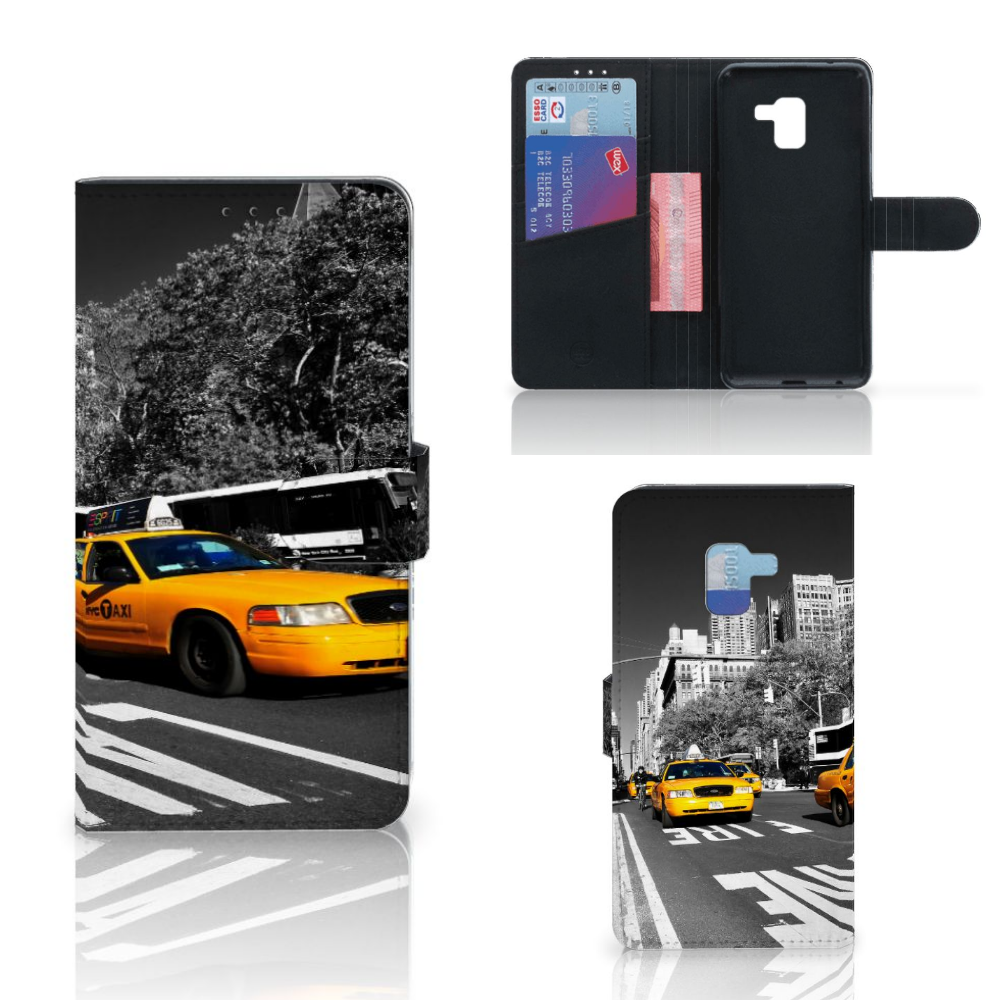 Samsung Galaxy A8 Plus (2018) Flip Cover New York Taxi