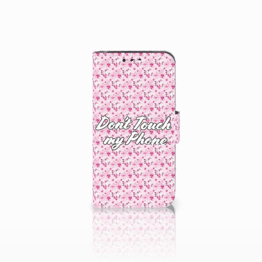 Huawei Y5 Y560 Uniek Boekhoesje Flowers Pink DTMP