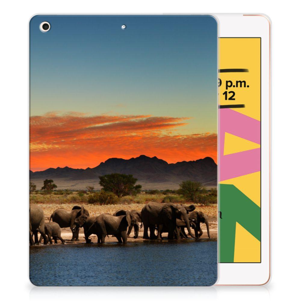 Apple iPad 10.2 (2019) Back Case Olifanten