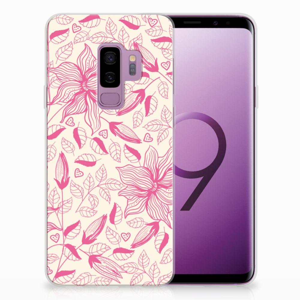 Samsung Galaxy S9 Plus Uniek TPU Hoesje Pink Flowers