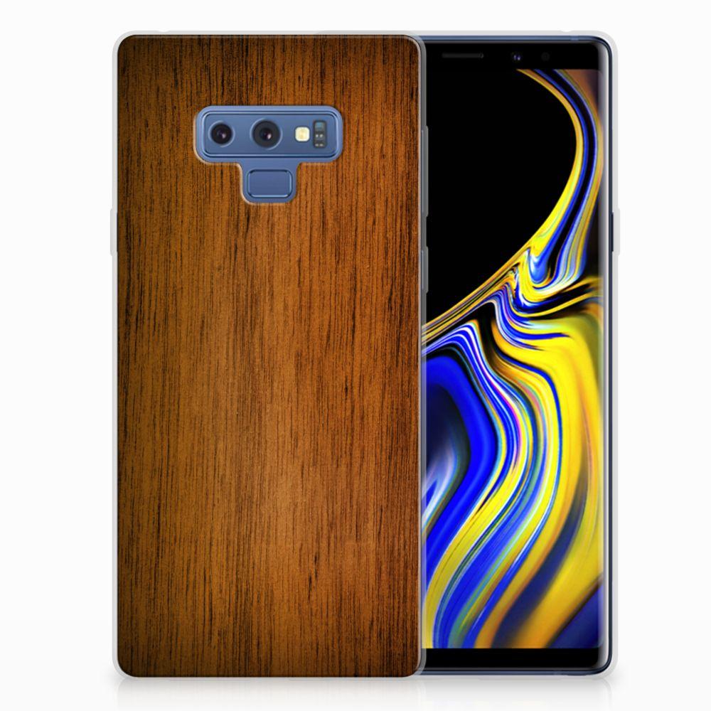 Samsung Galaxy Note 9 Uniek TPU Hoesje Donker Hout