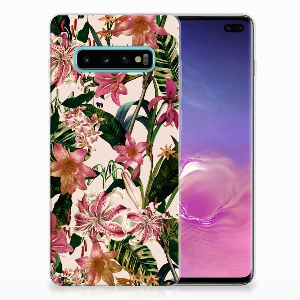 Samsung Galaxy S10 Plus Uniek TPU Hoesje Flowers