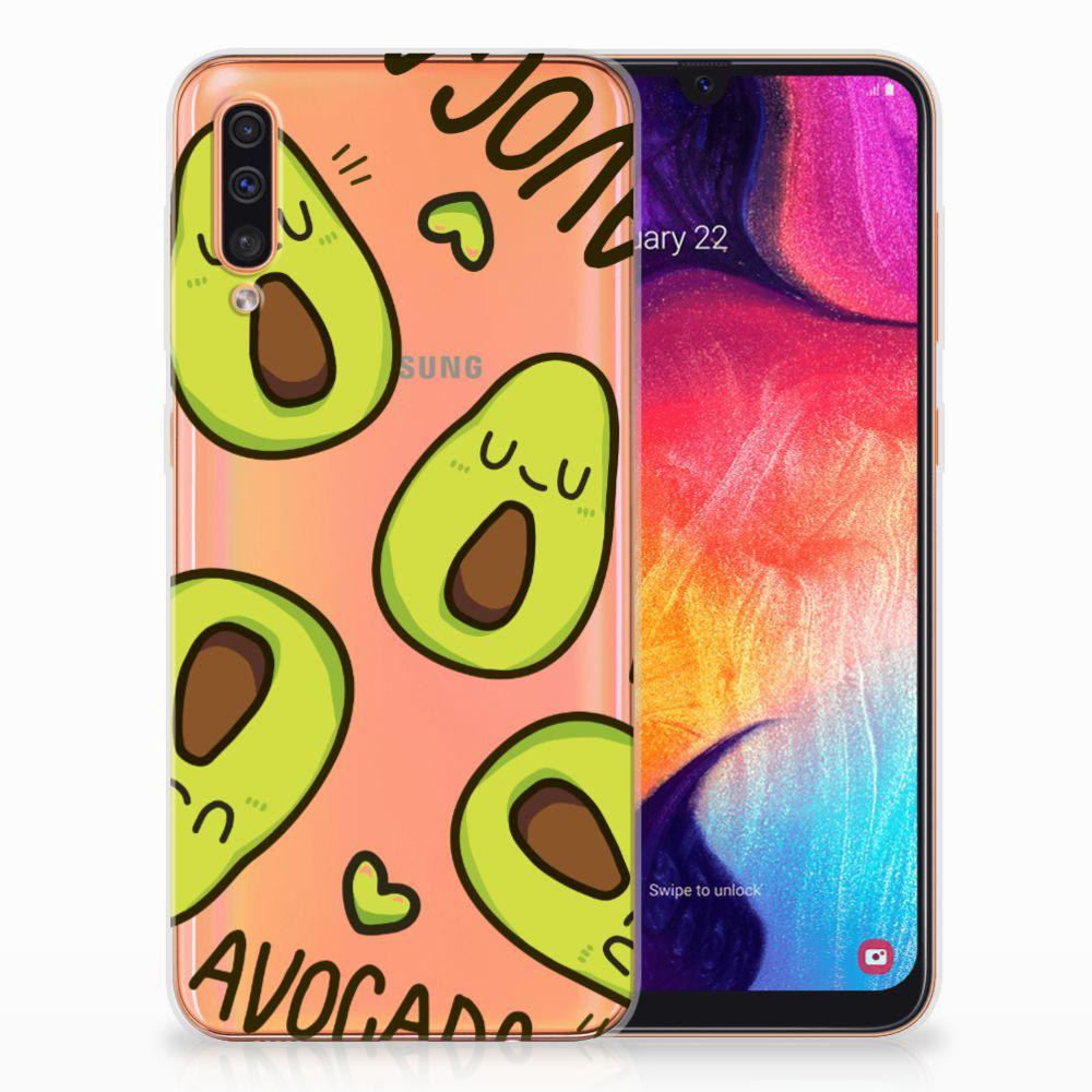 Samsung Galaxy A50 Telefoonhoesje met Naam Avocado Singing