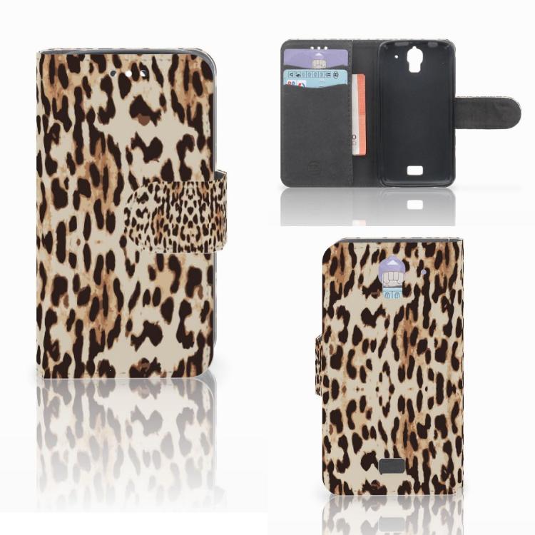Huawei Y360 Telefoonhoesje met Pasjes Leopard