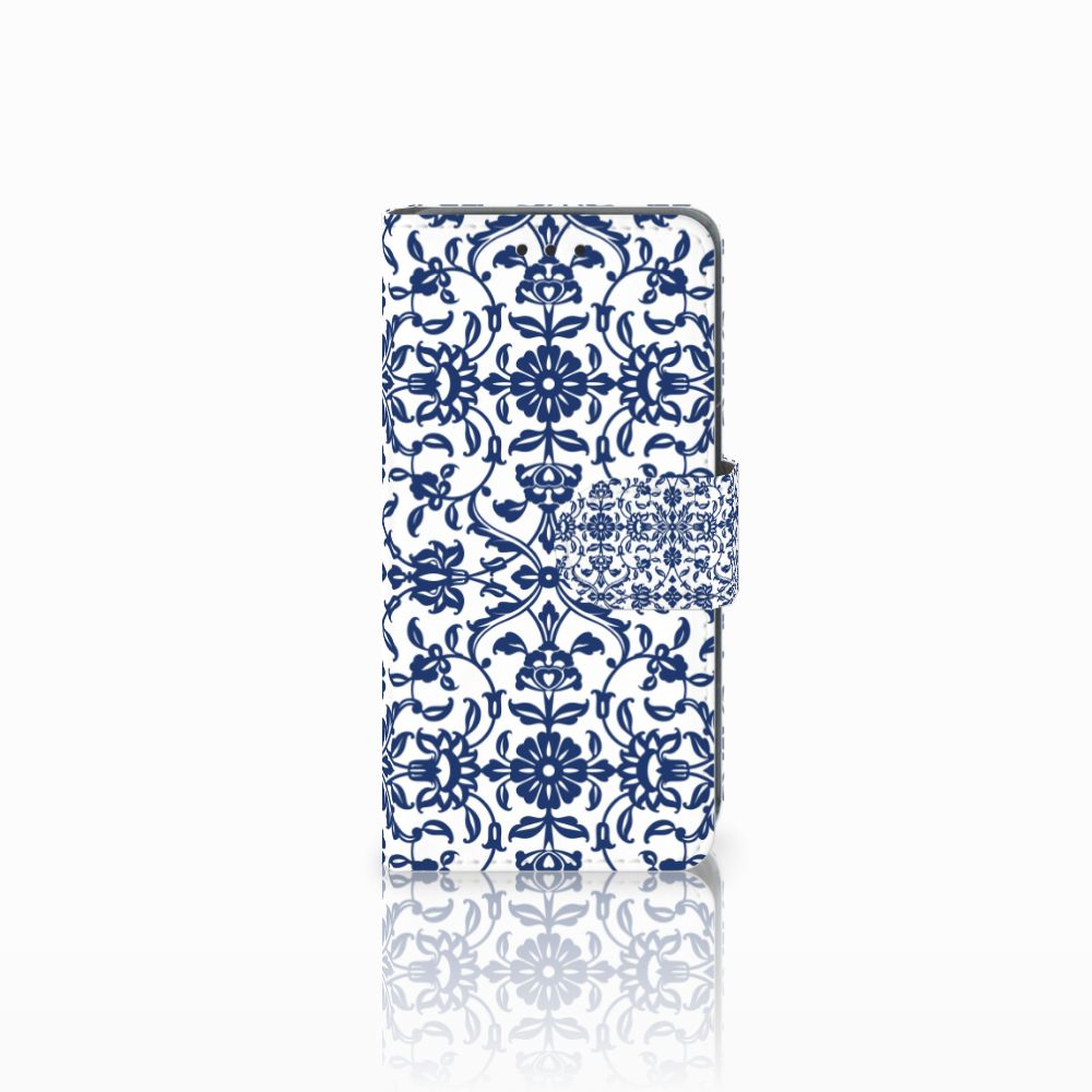 Nokia Lumia 630 Uniek Boekhoesje Flower Blue