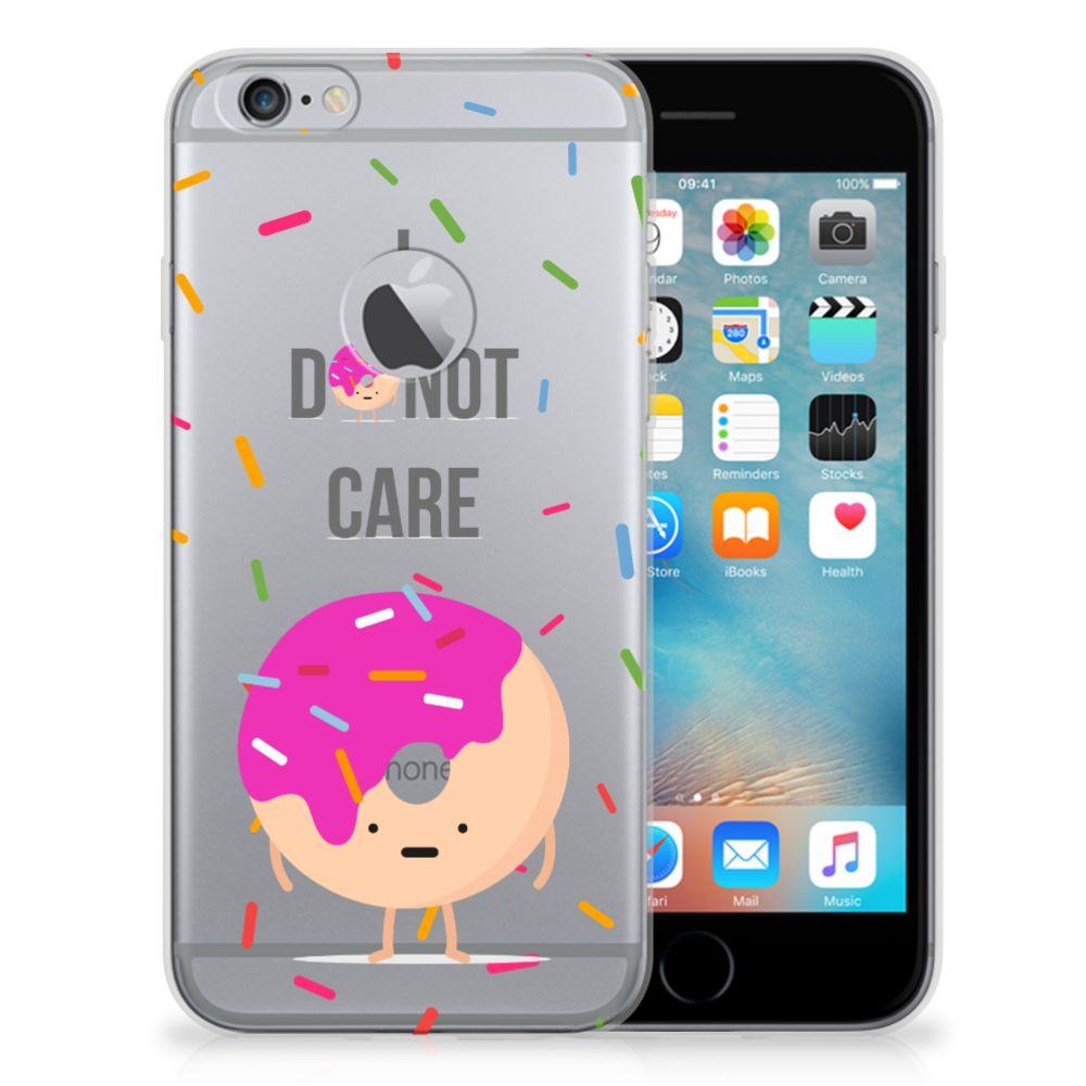 Apple iPhone 6 Plus   6s Plus Siliconen Case Donut Roze