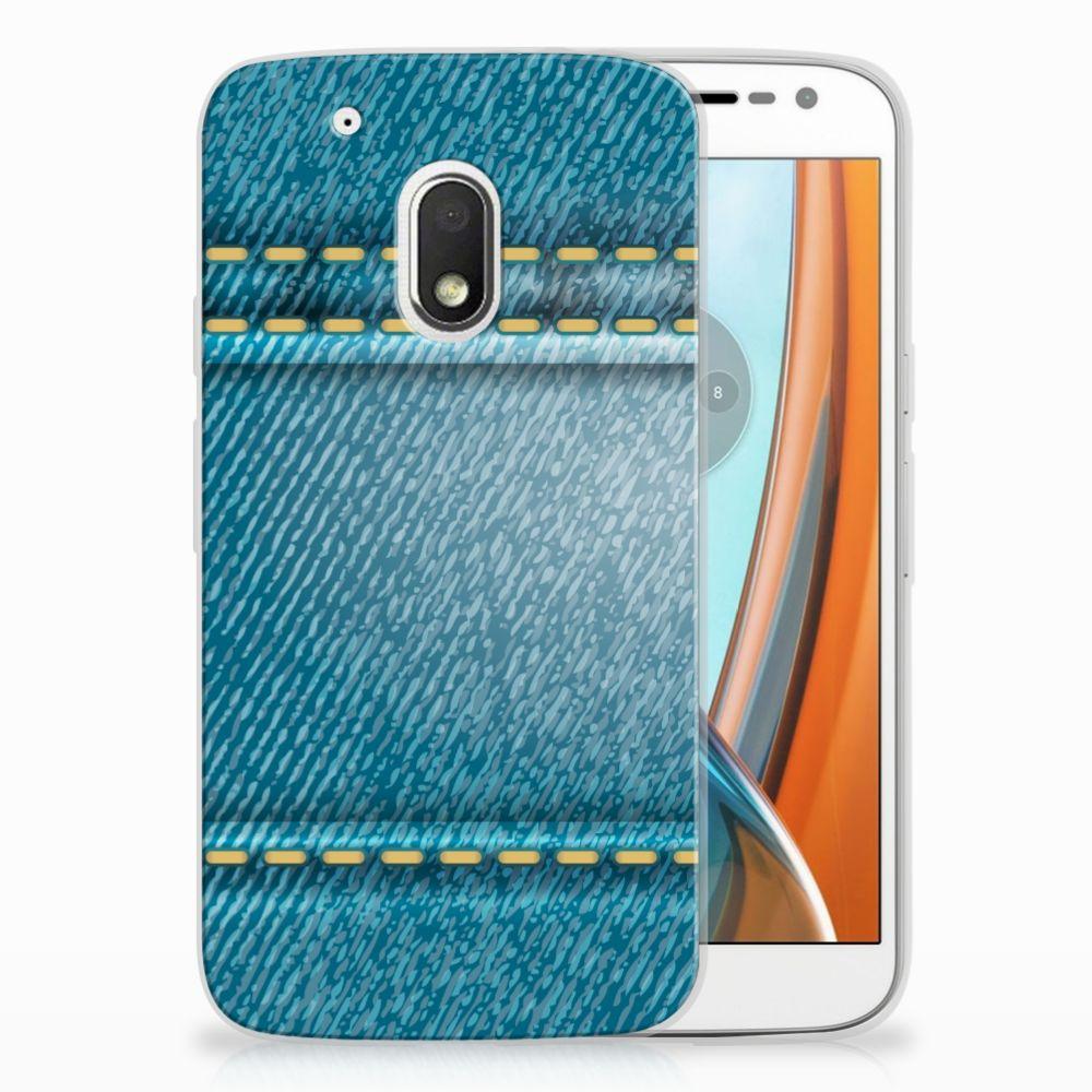 Motorola Moto G4 Play TPU Hoesje Design Jeans