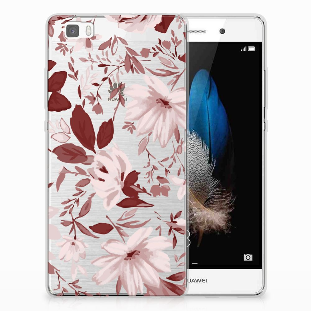 Huawei Ascend P8 Lite Uniek TPU Hoesje Watercolor Flowers