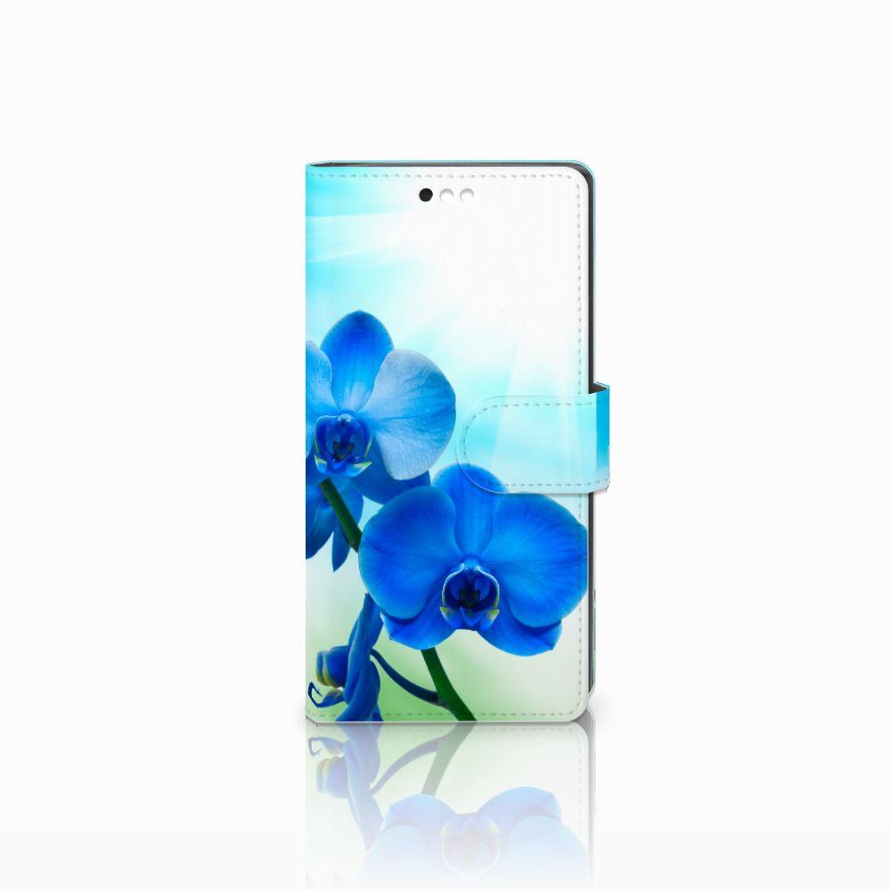 Sony Xperia XA2 Boekhoesje Design Orchidee Blauw