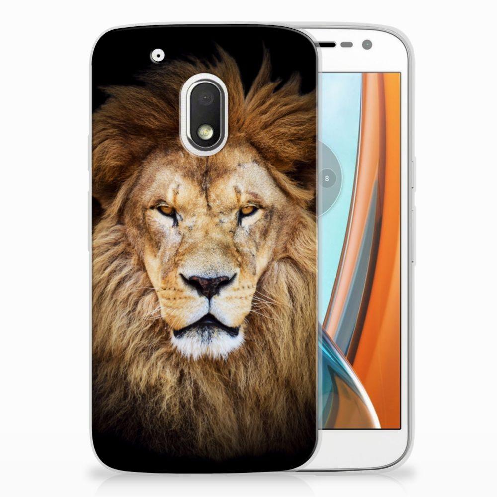 Motorola Moto G4 Play TPU Hoesje Design Leeuw