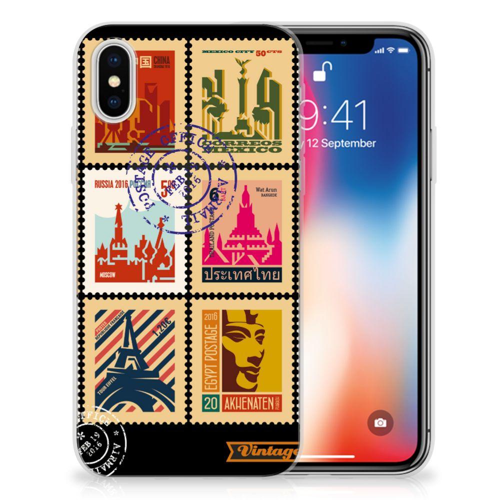 Apple iPhone X | Xs Uniek TPU Hoesje Postzegels