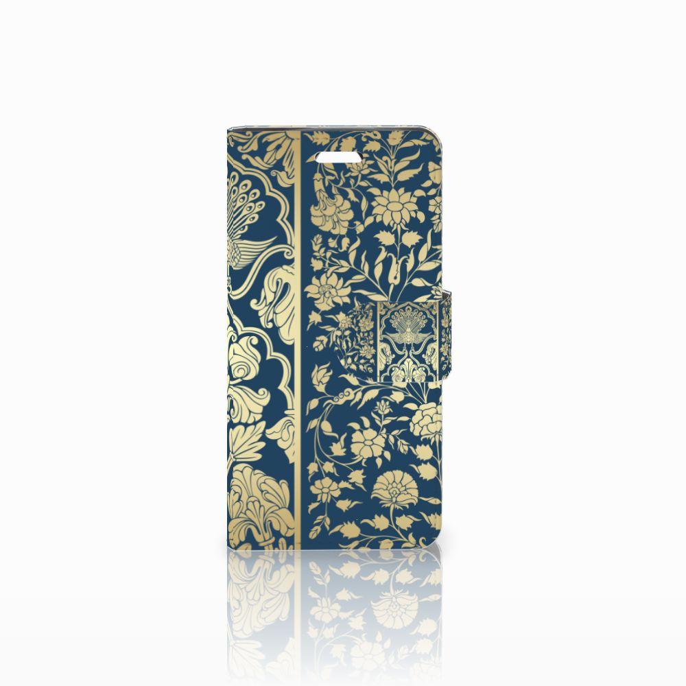 Acer Liquid Z330 Uniek Boekhoesje Golden Flowers