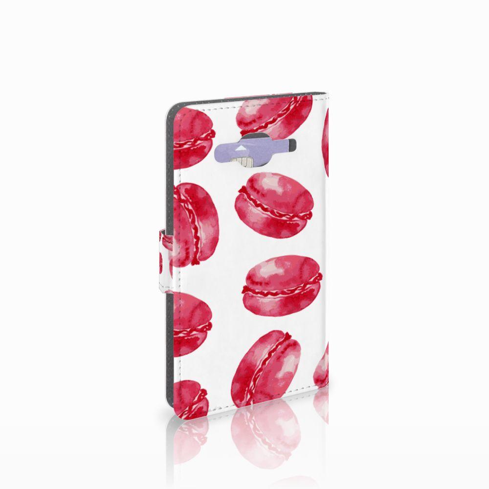 Samsung Galaxy J5 (2015) Boekhoesje Design Pink Macarons