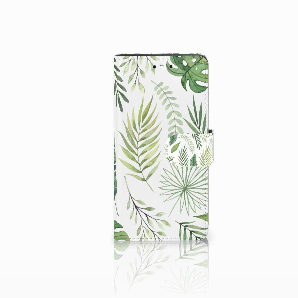 Huawei P8 Lite Smart (GR3) Uniek Boekhoesje Leaves