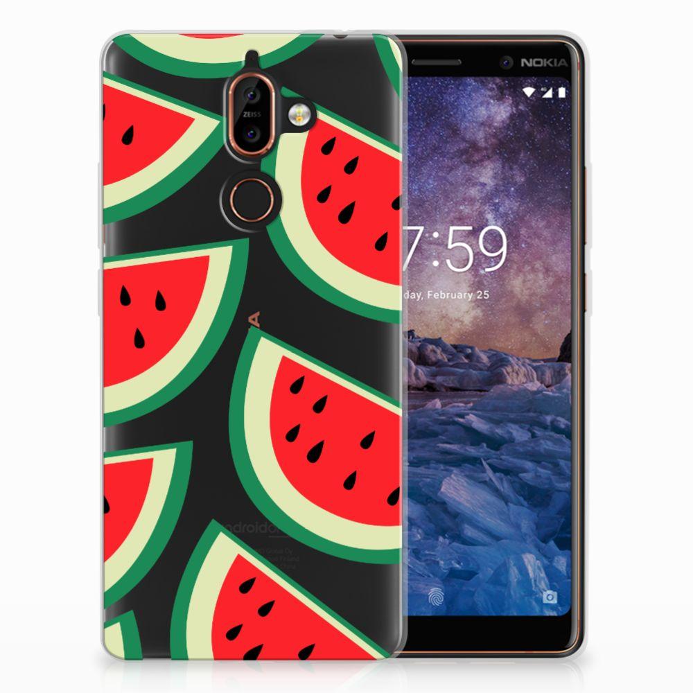 Nokia 7 Plus Siliconen Case Watermelons