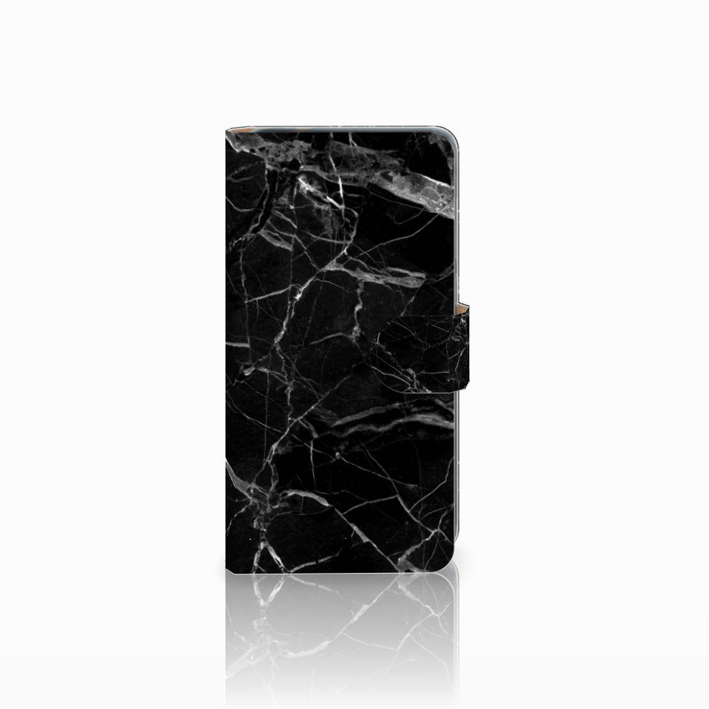 Huawei P8 Lite 2017 Uniek Boekhoesje Marmer Zwart