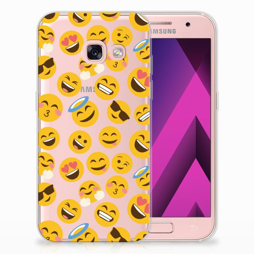 Samsung Galaxy A3 2017 TPU Hoesje Design Emoji