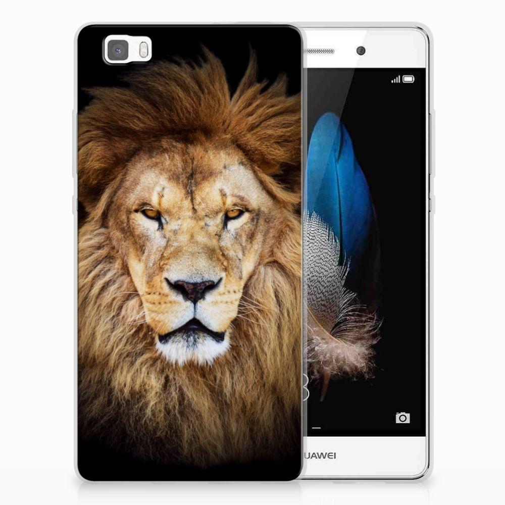 Huawei Ascend P8 Lite TPU Hoesje Leeuw