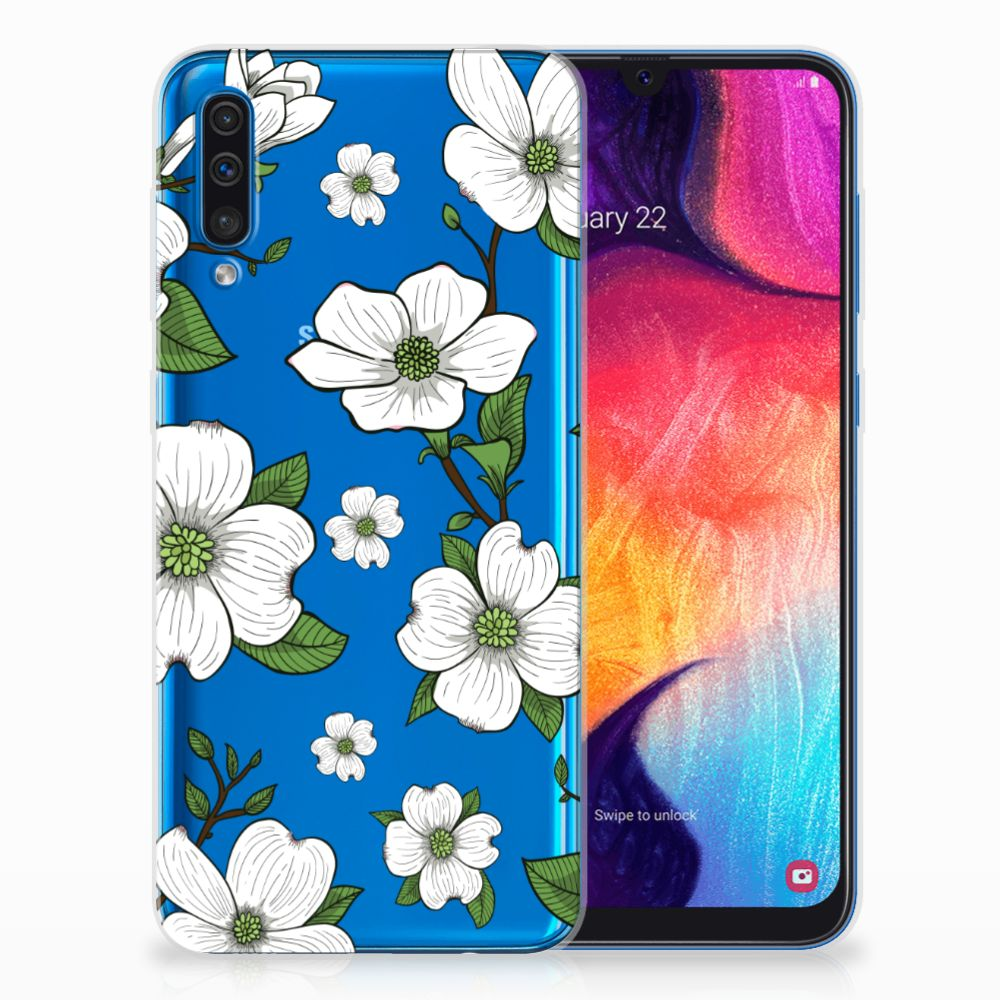 Samsung Galaxy A50 TPU Case Dogwood Flowers