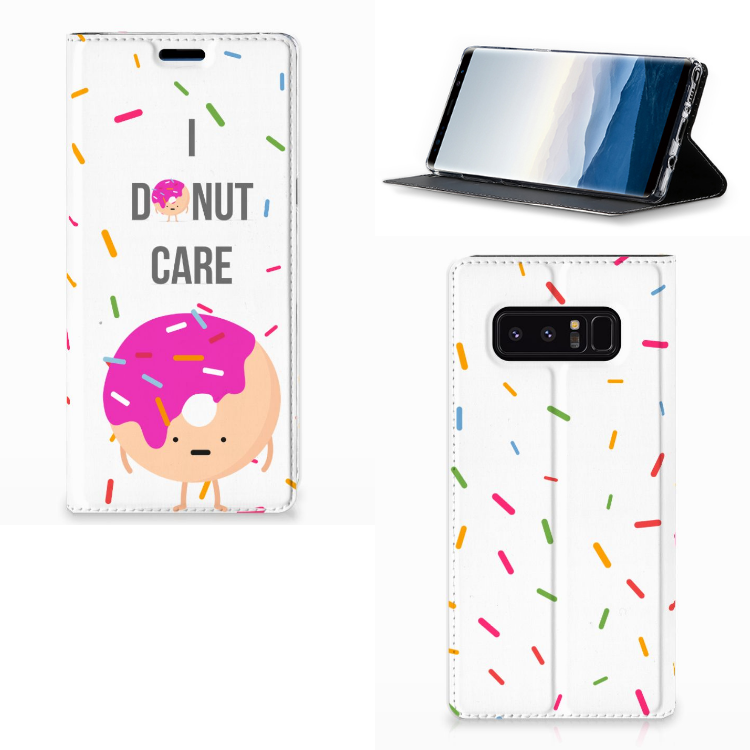 Samsung Galaxy Note 8 Flip Style Cover Donut Roze