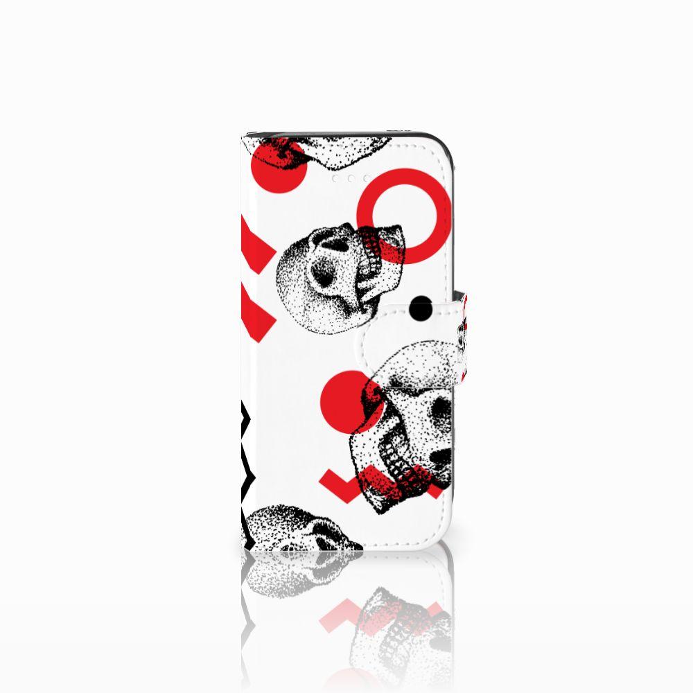 Telefoonhoesje met Naam Apple iPhone 5 | 5s | SE Skull Red
