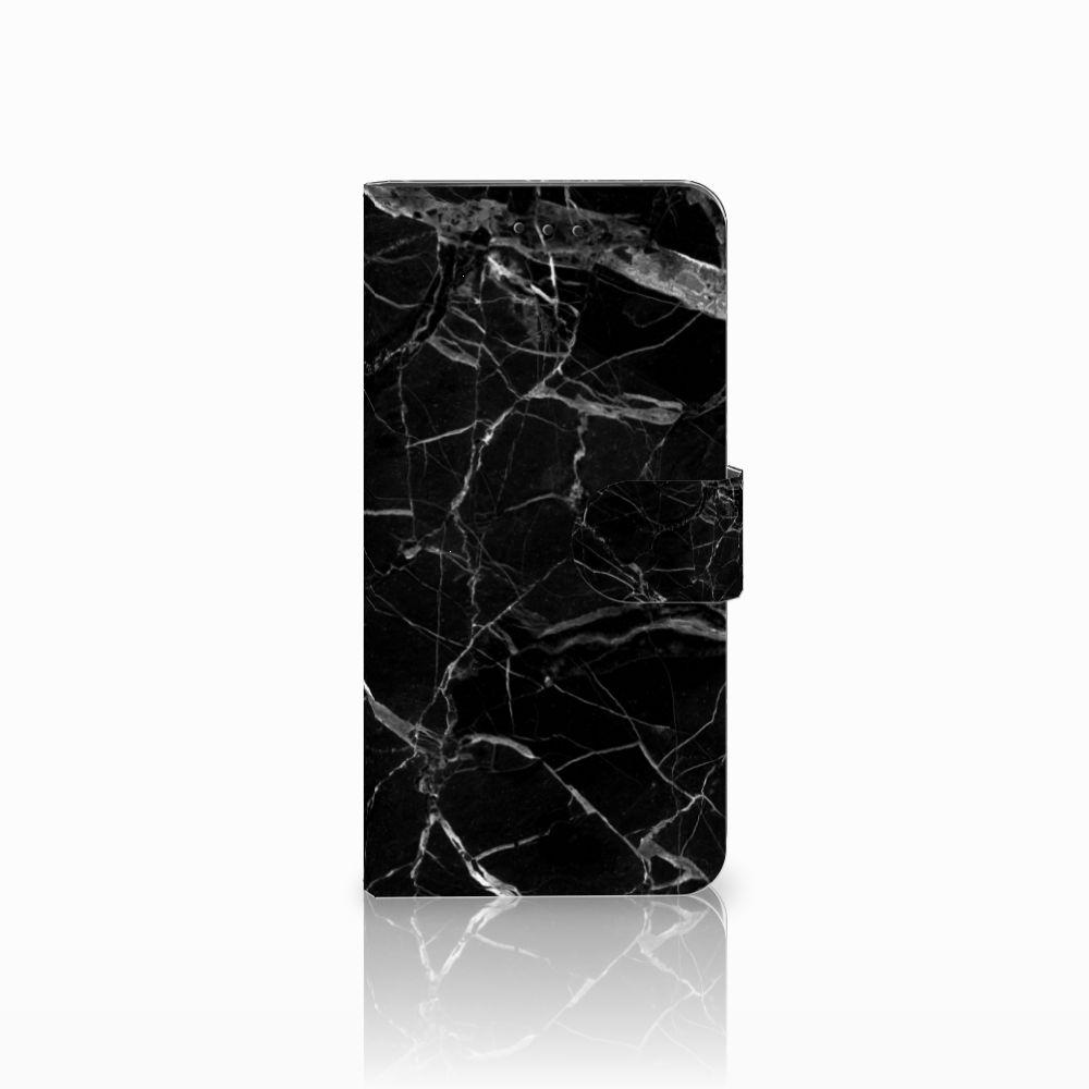 Motorola Moto E5 Play Uniek Boekhoesje Marmer Zwart