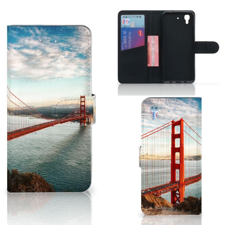 Honor 4A | Y6 Flip Cover Golden Gate Bridge