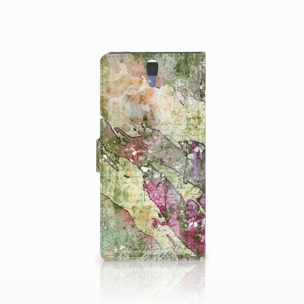 Hoesje Sony Xperia C5 Ultra Letter Painting