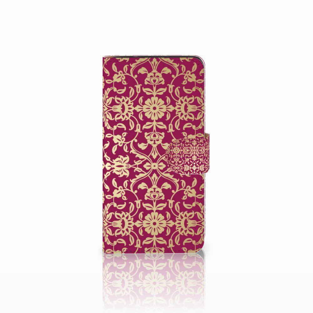 Samsung Galaxy J2 2016 Boekhoesje Design Barok Pink