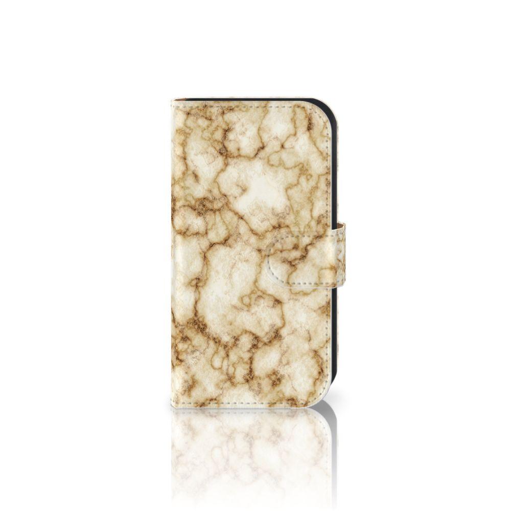 Samsung Galaxy Ace 4 4G (G357-FZ) Uniek Boekhoesje Marmer Goud