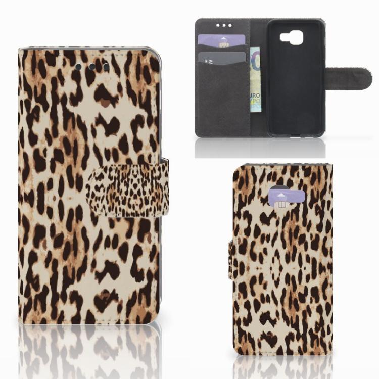 Samsung Galaxy A3 2016 Telefoonhoesje met Pasjes Leopard